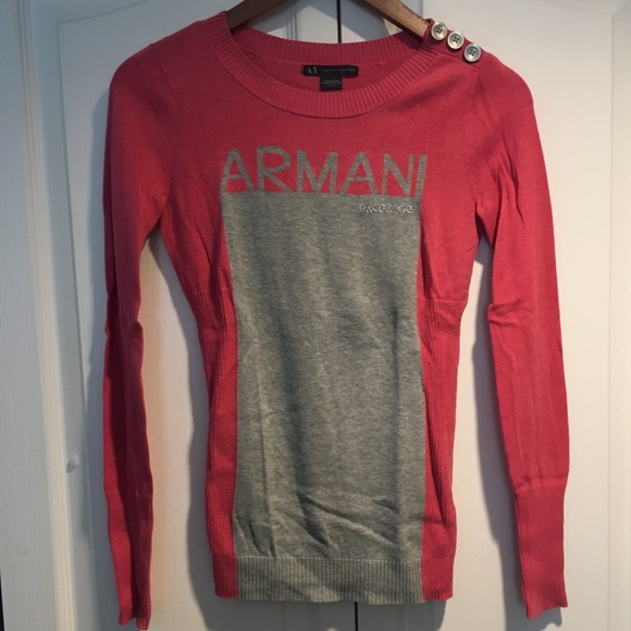 Armani exchange women's pink sweater XS